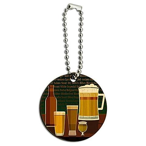 Verres à bière bière Pilsner Stout Bière en Bois Rond en bois Clé chaîne