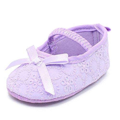 Bowknot Casuais De Roxo Sapatos Criança Sapatos Girl Macio Baby Princesa Clode® Únicos 1n6wEXw
