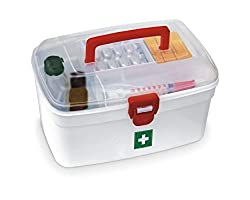 Keep your Medicines Secure and Easily Accessible Overcome medical emergencies and keep your medicines organized with the Milton medical box. Made from high quality and durable plastic, this medical box features a see-through lid for easy accessibilit...