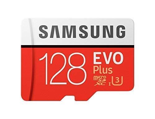 Samsung mb-mc128ga/eu evo plus scheda microsd da 128 gb, uhs-i, classe u3, fino a 100 mb/s di lettura, 90 mb/s di scrittura, adattatore sd incluso