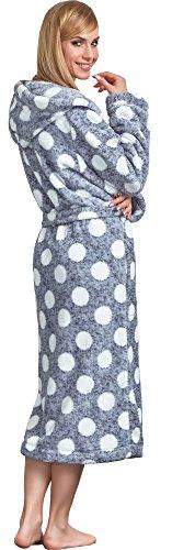 L&L Damen Bademantel mit Kapuze Darcy Long 2559/Graphite