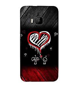 For HTC One M9 :: HTC One M9S :: HTC M9 :: HTC One Hima couples Printed Cell Phone Cases, hearts Mobile Phone Cases ( Cell Phone Accessories ), romantic Designer Art Pouch Pouches Covers, love Customized Cases & Covers, drawing Smart Phone Covers , Phone Back Case Covers By Cover Dunia