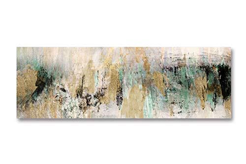 Fajerminart stampa su tela - golden green quadri astratti quadri moderni, dipinto su tela adatto per quadri moderni soggiorno quadri camera da letto decorazione della casa 60x180cm (senza cornice)