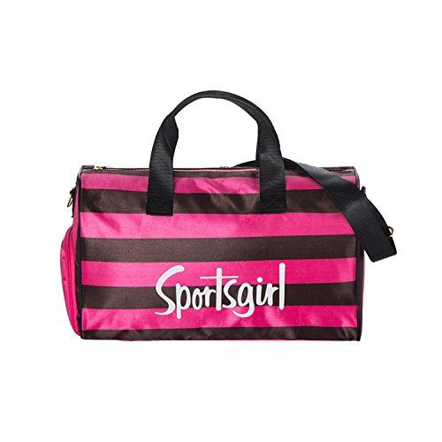 NOTAG Mädchen Sporttasche, Wasserdicht Reisetasche Lagre Kapazität Weekender Tasche Mit Schuhfach 2 Größe (M, Schwarz)