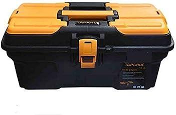 Taparia PTB13 Compact Plastic Tool Box with Organizer (Orange and Black)