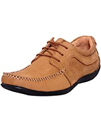 a261cf06e3d815 Zoom Nubuck Mens Shoes in Genuine Leather Casual Shoes N-2592-Brown Shoes  Online