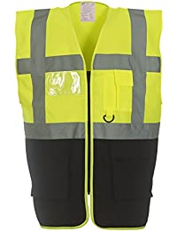 Yoko Multifunctional Executive Hi VIS Waistcoat - 18 Colours/Sml - 3XL