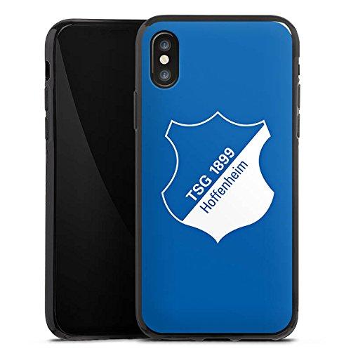 Apple iPhone X Silikon Hülle Case Schutzhülle TSG Hoffenheim Fanartikel Fußball Silikon Case schwarz