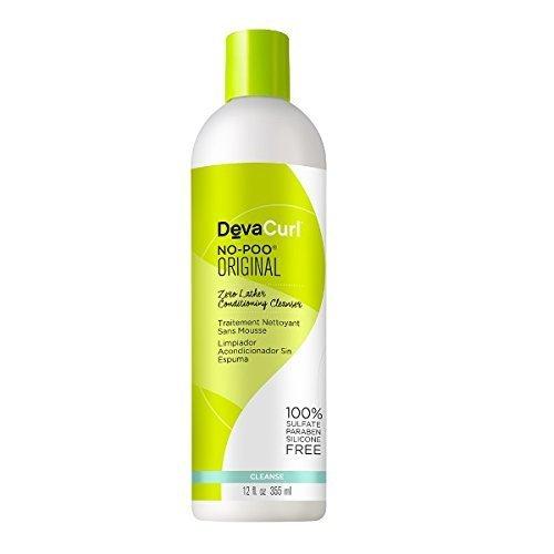 Deva Curl Nettoyant après-shampooing non moussant Deva Curl No Poo - A la rescousse des cheveux bouclés difficiles à coiffer et plein de frisottis - 350 ml (12 oz)