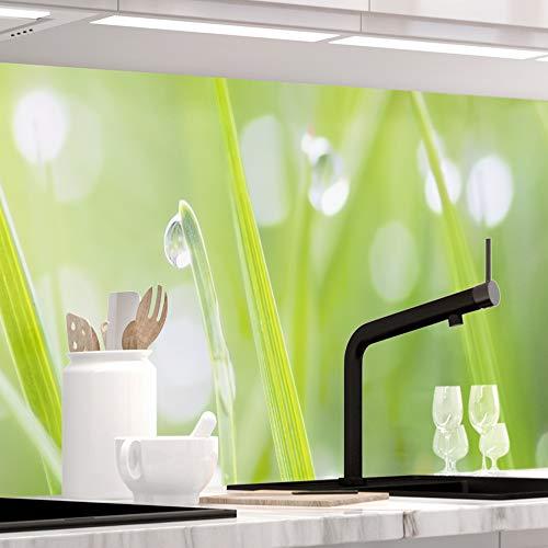 StickerProfis Küchenrückwand selbstklebend Premium MODERN Grass 1.5mm, Versteift, alle Untergründe, Hartschicht, 60 x 280cm