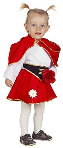 Rotkäppchen Kostüm Babykostüme Mädchen Karneval Fasching Rot Weiß Schwarz
