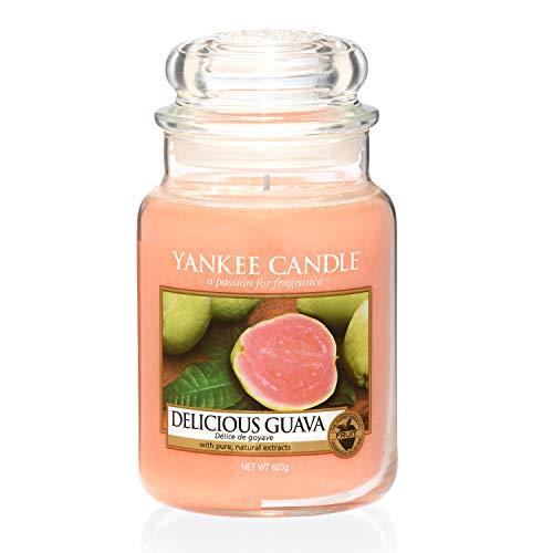 Yankee Candle große Duftkerze im Glas, Delicious Guava, Brenndauer bis zu 150Stunden