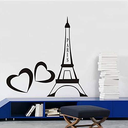 Amour Paris Autocollants En Vinyle Autocollants Paris Tour Eiffel Romantique Coeurs France Accueil Intérieur Enfants Chambre Salon Décor 29cm X 44cm
