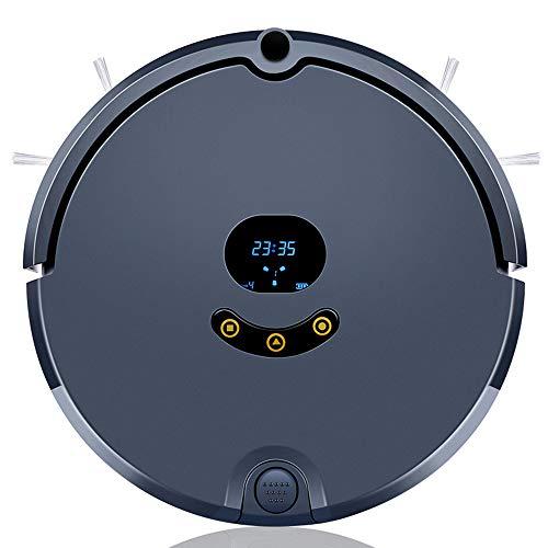 Aspiradora robótica, robot de limpieza automática con control de aplicaciones, autocarga, extremadamente silencioso, plan de limpieza de soporte, diseñado para pisos duros y alfombras finas,Black