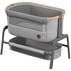 Bébé Confort Iora Berceau Cododo avec fonction coulissante facile, convient dès la naissance, de 0 à 9kg, Essential Grey