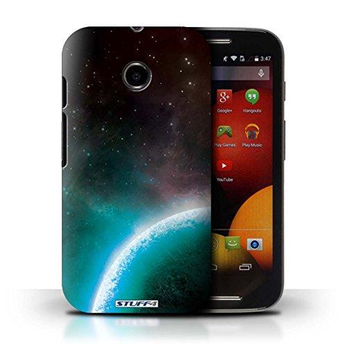 Kobalt® Imprimé Etui / Coque pour Motorola Moto E (2014) / Nébuleuse Orange conception / Série Cosmos Planète Bleue