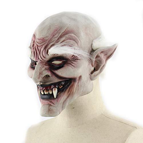 DUBAOBAO Halloween-Maske, Baimei Alten Dämon Halloween Horror-Teufel Maske Vampir Außenhandel Haunted Haus Kostüm Prop Latex Wig, Halloween Kostüm Party