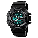 Skmei Analog-Digital Black Dial Men's Watch-1117-Grey-02
