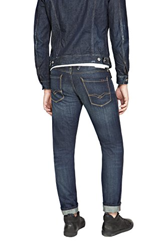 Replay Herren Slim Jeans Anbass Blau (Blue Denim 7)