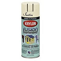Krylon Fusion For Plastic 24224 Dover White Satin Paint - 16 oz Aerosol Can - K02422001 [PRICE is per CAN]