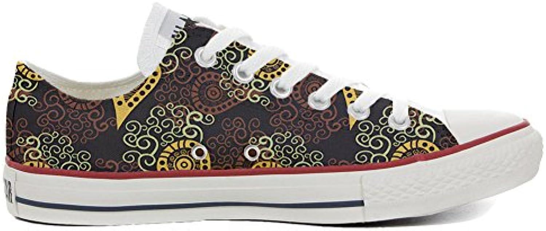 Converse Personalizzate all Star (Prodotto Personalizzato) scarpe da ginnastica, Unisex-Adulto Marronee Paisley Dimensione 42 EU | Di Rango Primo Tra Prodotti Simili  | Gentiluomo/Signora Scarpa