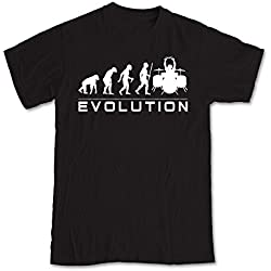 Shaw Tshirts® Evolution of a Rock Drummer - Black (XL)