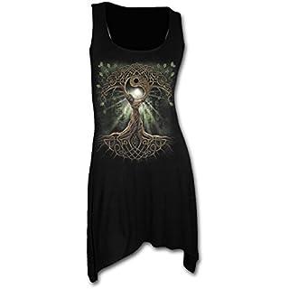 Spiral Direct Damen Oak Queen - Goth Bottom Camisole Dress Black Kleid, Schwarz 001, 50 (Herstellergröße: XX-Large)