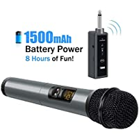 "TONOR Wireless Handheld Microphone Bluetooth with 1/4"" Output, For Church/Home/Karaoke/Business Meeting"