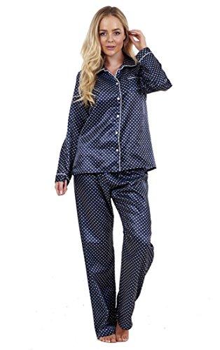 ladies-stunning-printed-satin-pyjamas-womens-long-sleeve-nightwear-silk-pjs-medium-uk-14-16-polka-do