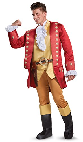 Disguise Beauty and The Beast Gaston Deluxe Men's Fancy Dress Costume - Gaston Kostüm