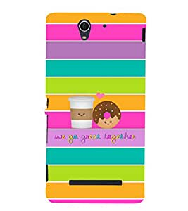 Fuson Premium Back Case Cover We go great With blue Background Degined For Sony Xperia C3 Dual D2502::Sony Xperia C3 D2533