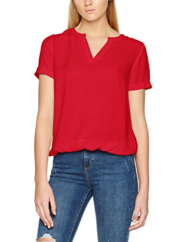 TOM TAILOR Damen Bluse Casual Dobby Structured Blouse Rosa (Permanent Rose 4760)