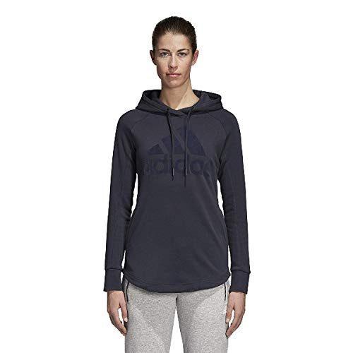 adidas Damen Sports ID Open Hem Kapuzen-Sweatshirt, Legend Ink/Night Sky, M