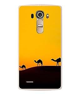 PrintVisa Plane Of Desert High Gloss Designer Back Case Cover for LG G4 :: LG G4 Dual LTE :: LG G4 H818P H818N :: LG G4 H815 H815TR H815T H815P H812 H810 H811 LS991 VS986 US991