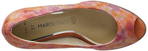 Marco Tozzi Premio 29300, Sandali Punta Aperta Donna Rosso (Coral Multi 507)