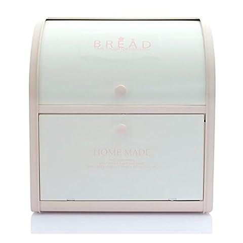 Harra Home 2étages Boîte à pain pour comptoir de cuisine, boîte à pain de conservation pour pains, pâtisseries, et bien plus encore, (12x 9,5x 13) inch