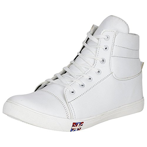 Hitler Men's High Top Sneakers(White,UK-10)
