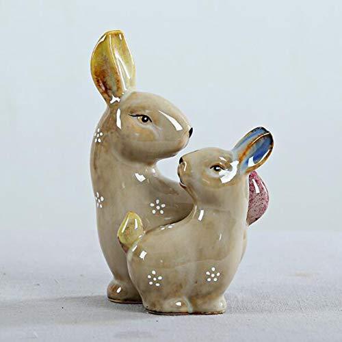 Ankamal elec regalo pasquale artigianato coniglio in ceramica fatto a mano piccoli animali piccoli ornamenti arredamento moderno casa moderna