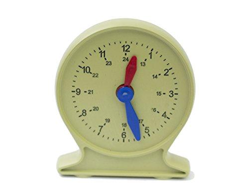 Lernuhr für Schüler Uhrzeit lernen Wie spät ist es? Übungsuhr für Kinder in Vorschule und Grundschule synchrone Uhr -- Made in Germany