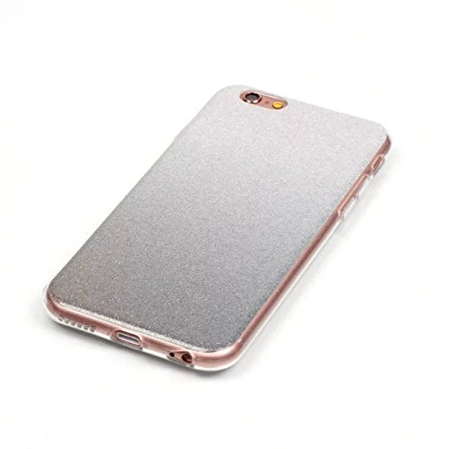 Wkae Case Cover Transparent Gradient couleur souple TPU Housse de protection souple de couverture pour iPhone 6 6s ( Color : Gray , Size : IPhone 6 6s ) Gray