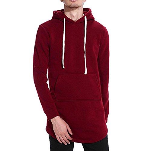 VENMO Herren Herbst Winter Sweatshirt Solid DüNnen Warme Sweatshirt Hoodie Kapuzenpullover Hood Hoodie Pullover Kapuzenpullover Pulli...