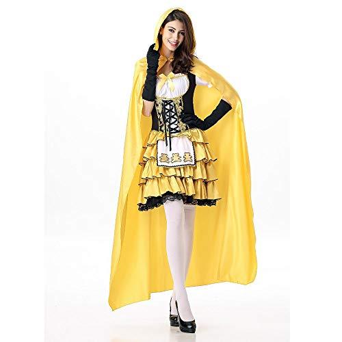 Sttsale Halloween Kostüm Mädchen, Fairytale Blonde Mädchen mit Mantel Cub Kostüm, Halloween Cosplay Party Ball Queen Kostüm