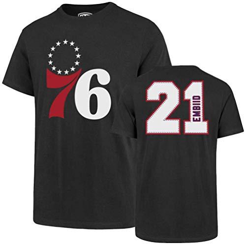 NBA Herren T-Shirt NBA Player Ots Rival Tee, Herren, Player OTS Rival Tee, Joel Embiid - Charcoal, XX-Large - Ihre Tee Time-t-shirt