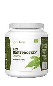 Bio Hanfprotein Pulver - 1000g - 50 Prozent Proteinanteil - Ideal für Shakes oder als Ergänzung im Müsli - Hoher Ballaststoff-Anteil