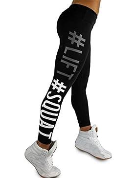 Yoga Pantaloni donna,BeautyTop Donna Yoga Pants Sportivi leggings fitness Sport Running yoga Pantaloni da atletica