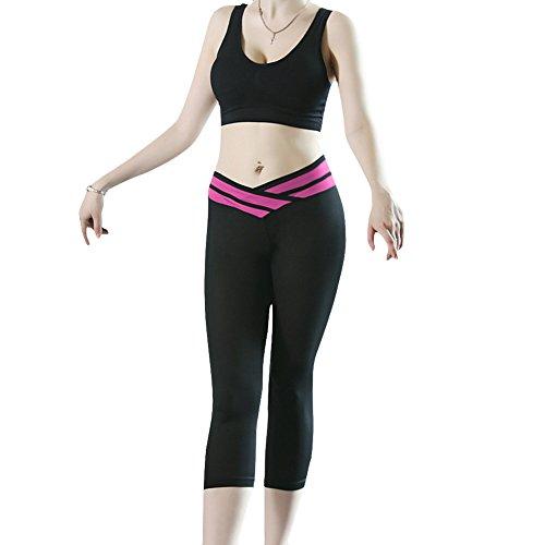 hjuns - Legging de sport - Femme Rose - HotPink