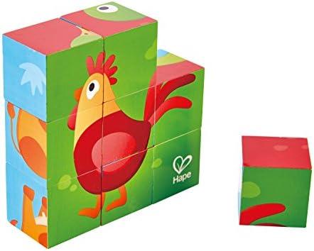 Hape Puzzle Cubes Animaux de la Ferme, E1618 E1618 E1618 | Laissons Nos Produits De Base Aller Dans Le Monde  44e016