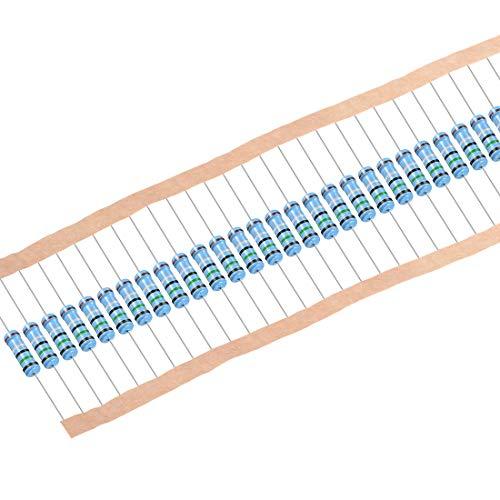 sourcing map 30 Stk.Metallfilmwiderstände 2K ohm 1W 1{3c6caa954f102ef52a120455d11c28797778b1ccb843f7d5d90bdc3663fc7212} Toleranzen 5 Farbe Band de