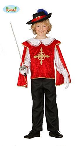 edler Musketeer - Kostüm für Kinder Gr. 98 - 134, Größe:128/134 (Frankreich Kostüm Für Jungen)