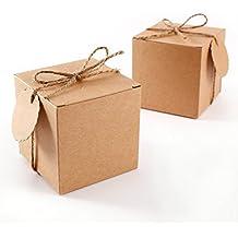 CLE DE TOUS - Set de 50 Cajas para dulces bombones Caja kraft de boda regalo